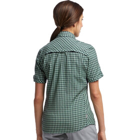Icebreaker W's Terra SS Plaid Panther/Panther